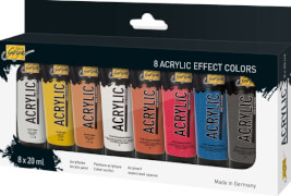 SOLO GOYA Acrylic 20 ml 8er Set Effect Colors