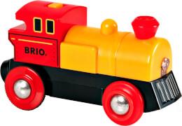 BRIO 33594000 Gelbe Batterielok, Holz und Kunststoff, ab 36 Monate - 8 Jahre