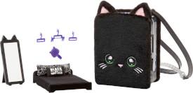 Na! Na! Na! Surprise 3-in -1 BackPack Bedroom Playset- Black Kitty