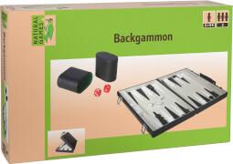 Natural Games Backgammon Kunstleder,Strategiespiel, für 2 Spieler ca. 41,7x6x25,1 cm, ab 6 Jahren