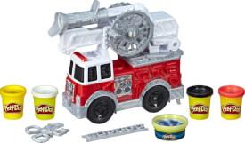 Hasbro E6103EU4 Play-Doh Wheels Feuerwehrauto Spielzeug mit 5 Dosen Play-Doh einschließlich Play-Doh Wasserknete