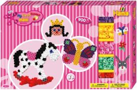 HAMA Bügelperlen Maxi - Gigantische Geschenkpackung pink - 2 Stiftplatten