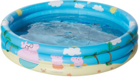 Happy People 16260 Peppa Pig 3-Ring-Pool, aufgeblasen ca. 100x23 cm,