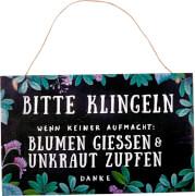 Gartenschild Bitte klingeln # I love my Jungle (Garden)