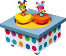 Holz Spieldose Tanzende Akrobaten